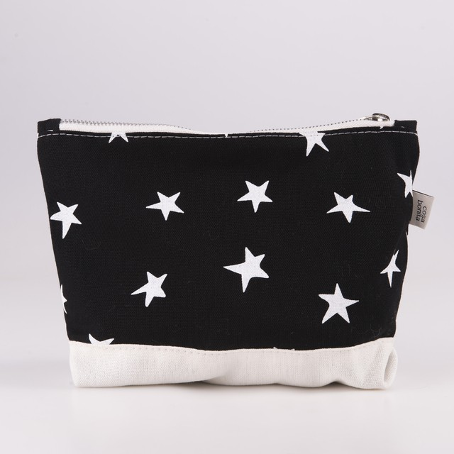 Petra Pouch, black with white stars