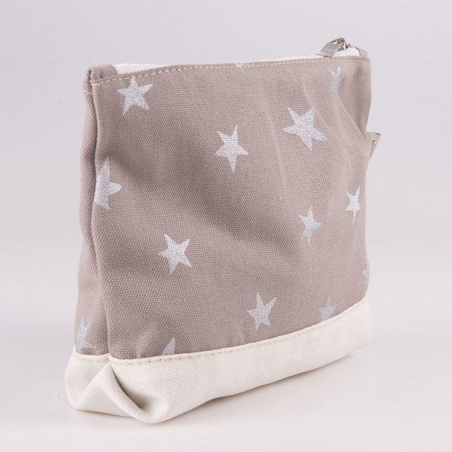 Petra Pouch, taupe with silver stars - buy online