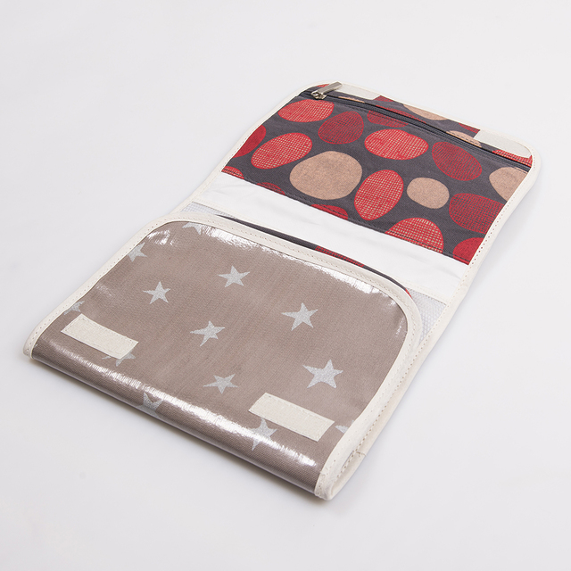 Aguamarina Pouch, plasticized, taupe with silver stars   on internet