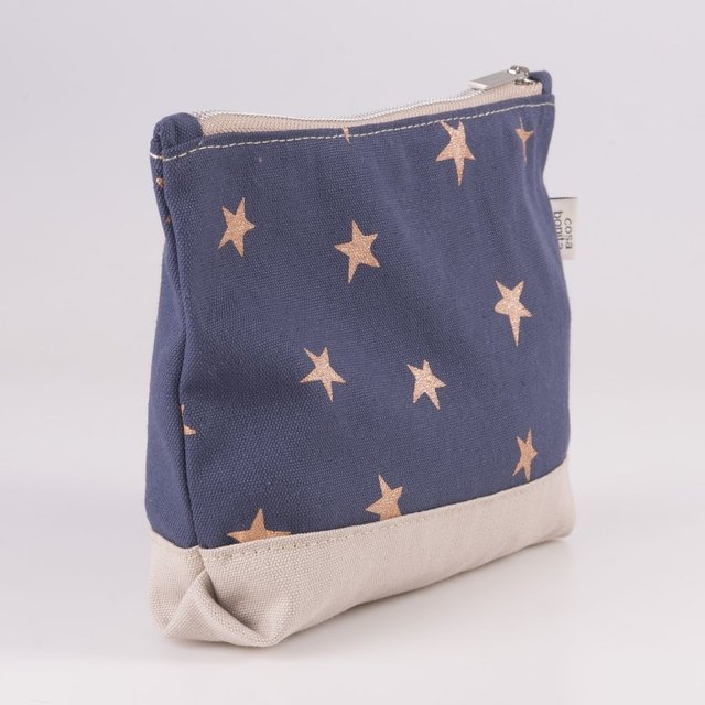 Petra Pouch, blue with cooper stars - buy online