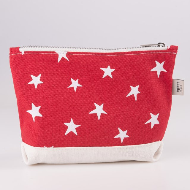 Petra Pouch, red with white stars