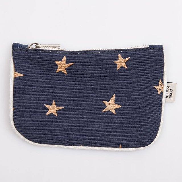 Susques Purse, blue with cooper stars