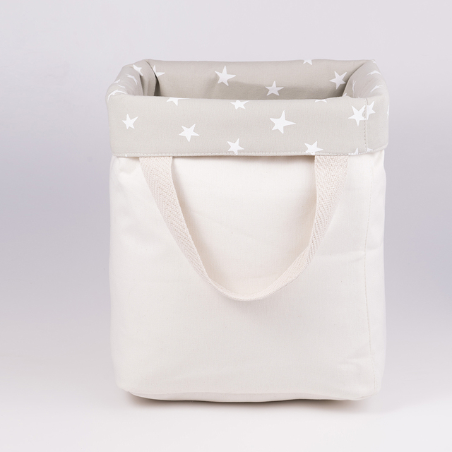 Tall Basket, pearl grey with white stars   on internet