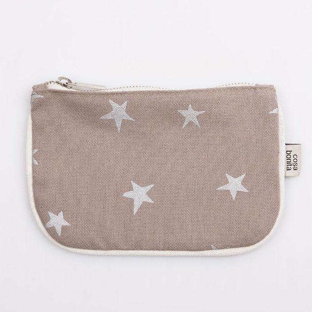 Susques Purse, taupe with silver stars - buy online