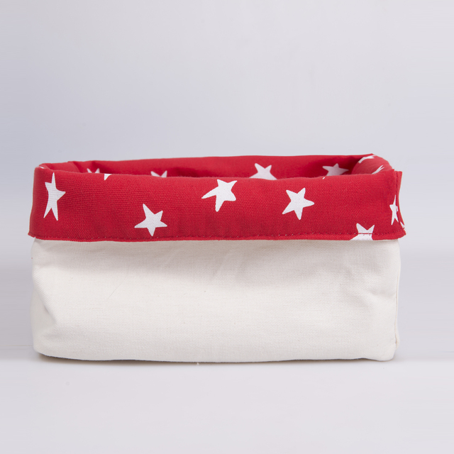 Medium Basket, red with white stars   on internet