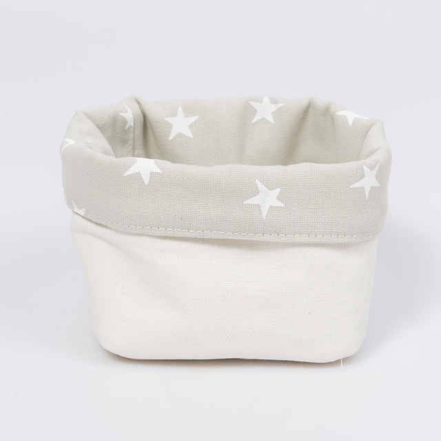 Small Basket, pearl grey with white stars   on internet
