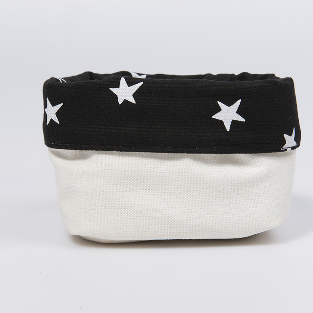 Small Basket, black with white stars   on internet