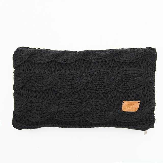 Nara Cushion, black cable stitch - buy online