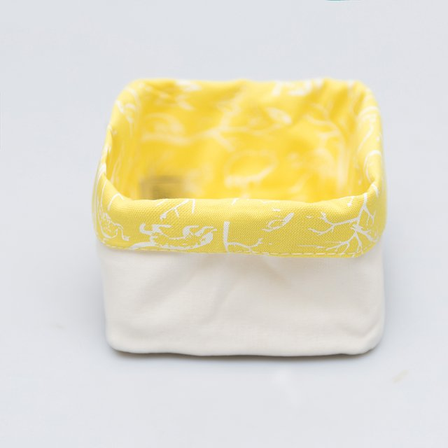 Small Basket, yellow with white animals - buy online