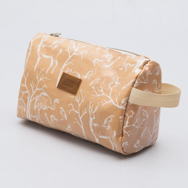 Fiambalá Pouch, plasticized, salmon with white animals - buy online