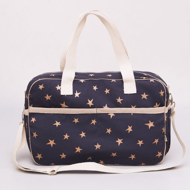Maternity Bag, blue with white cooper stars - buy online