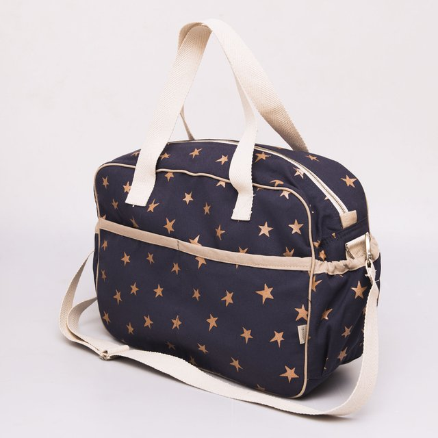 Maternity Bag, blue with white cooper stars on internet