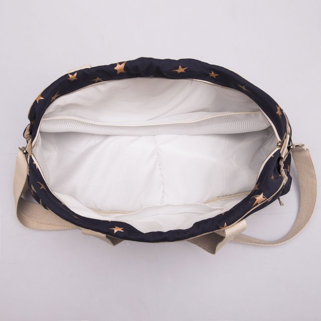 Maternity Bag, blue with white cooper stars - online store
