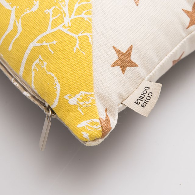 Scooby Cushion, beige & yellow - buy online