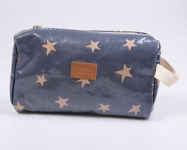 Fiambalá Pouch, plasticized, blue with cooper stars - buy online