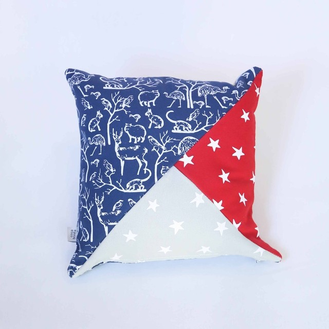 Sooby Cushion, blue & grey - buy online