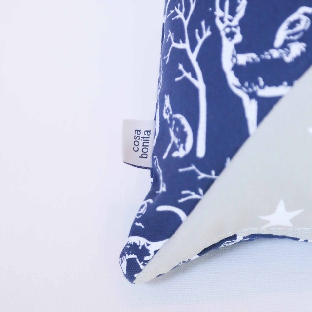 Sooby Cushion, blue & grey on internet