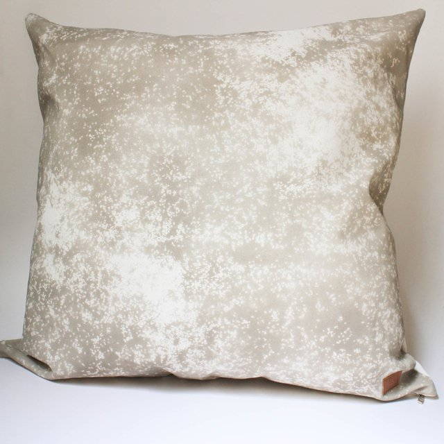 Tall Margarita Cushion, ecru with splashes of taupe - buy online