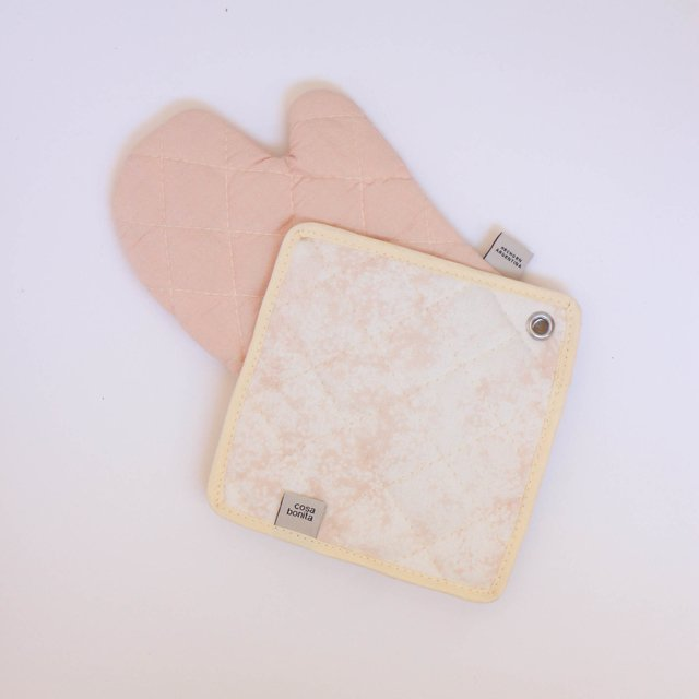 Traful Pot Holder & Oven Mit, pink - Cosa Bonita