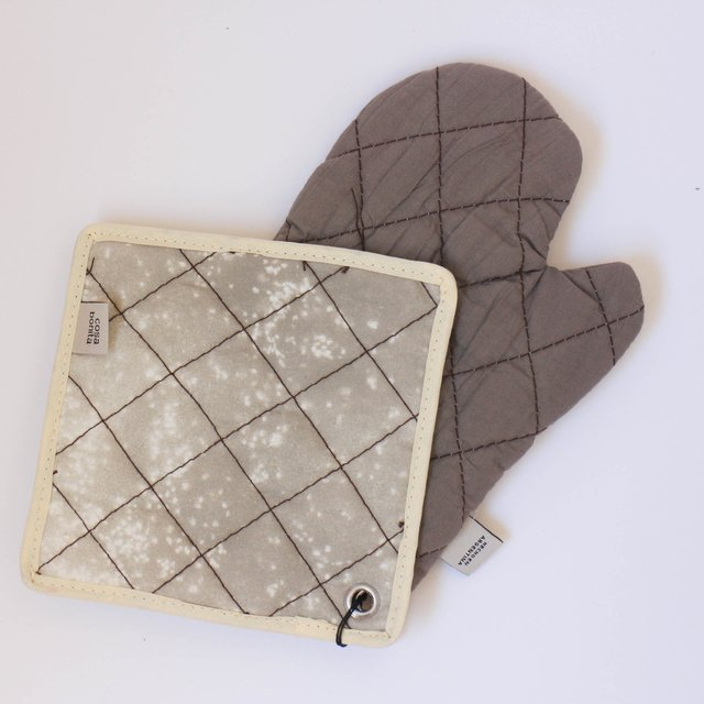 Traful Pot Holder & Oven Mit, taupe on internet