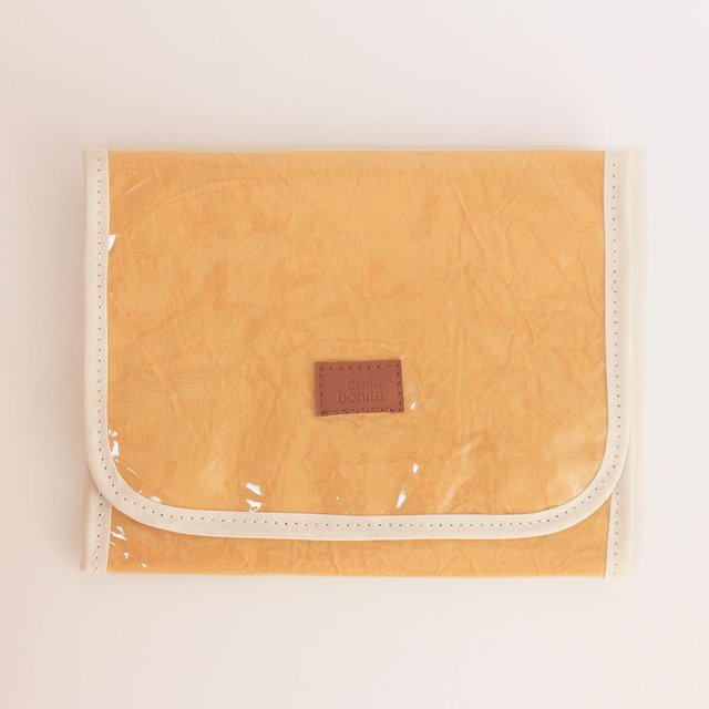 Aguamarina Pouch, plasticized, mustard - buy online