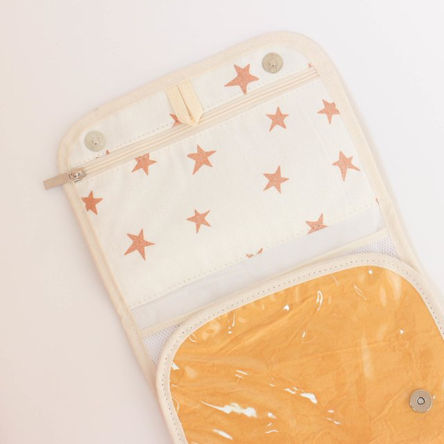 Aguamarina Pouch, plasticized, mustard on internet