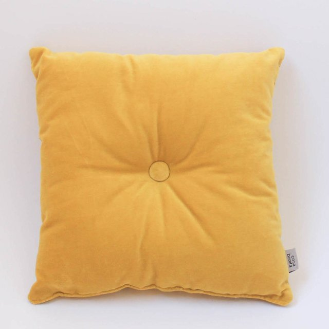 Magoo Cushion, mustard velvet - buy online