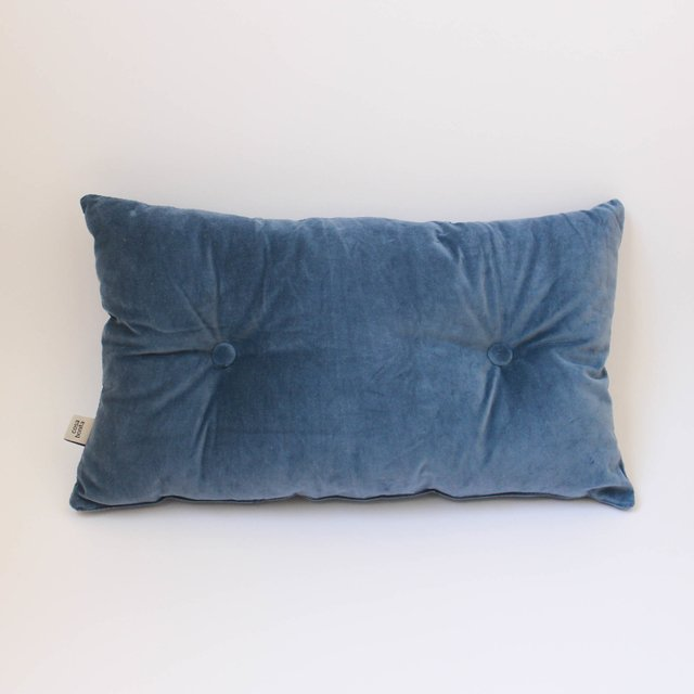 Magoo Cushion, blue velvet - buy online