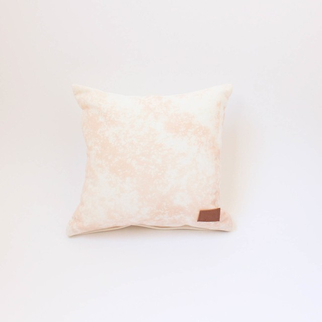 Small Margarita Cushion, ecru with splashes of pink