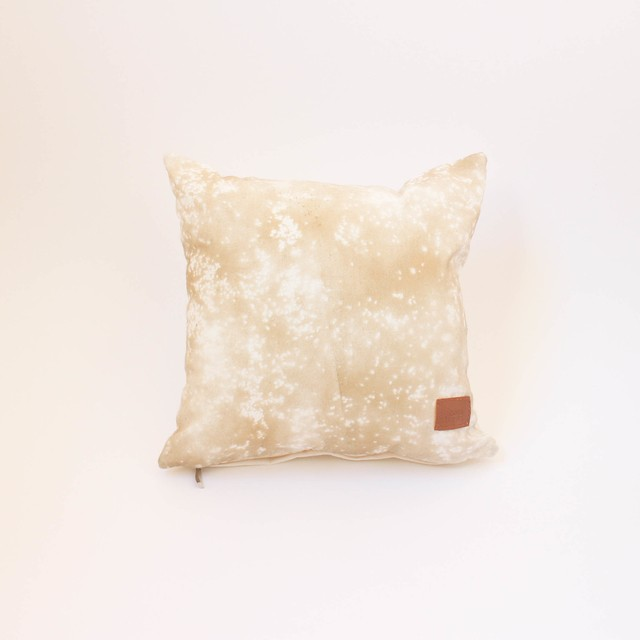 Small Margarita Cushion, ecru with splashes of beige - buy online