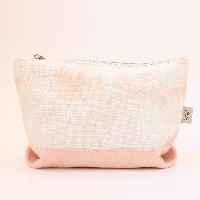 Petra Pouch, ecru with splashes of pink - buy online