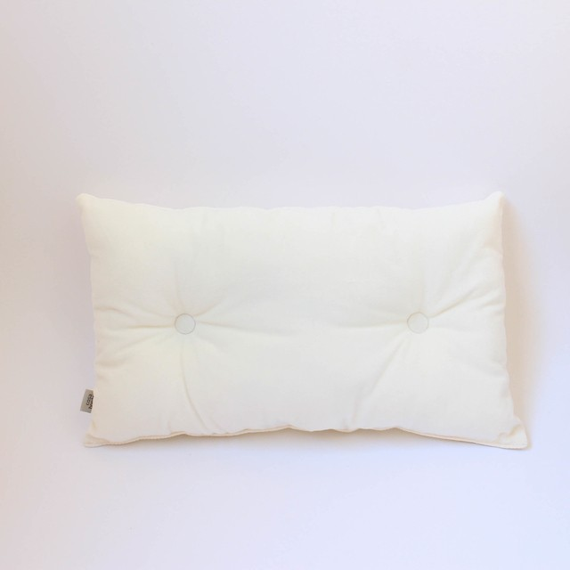 Magoo Cushion, ecru velvet - buy online