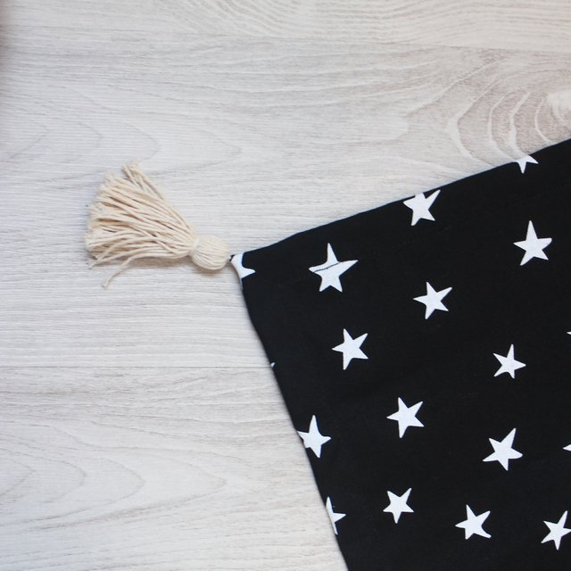 Table Runner, black with white stars - buy online