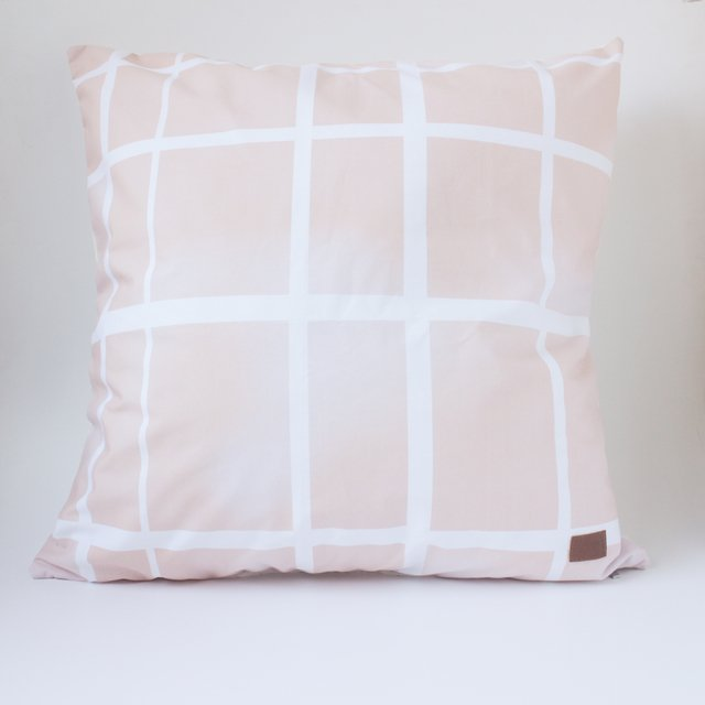 Tall Santa Rita Cushion, pink tartan - buy online