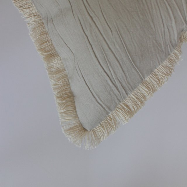 Tall Jazmin Cushion, beige with ecru fringes (copia) (copia) (copia) - online store