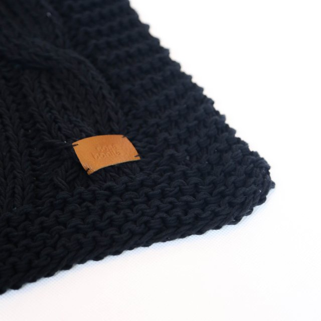 Minsk Throw, black cable stitch - buy online