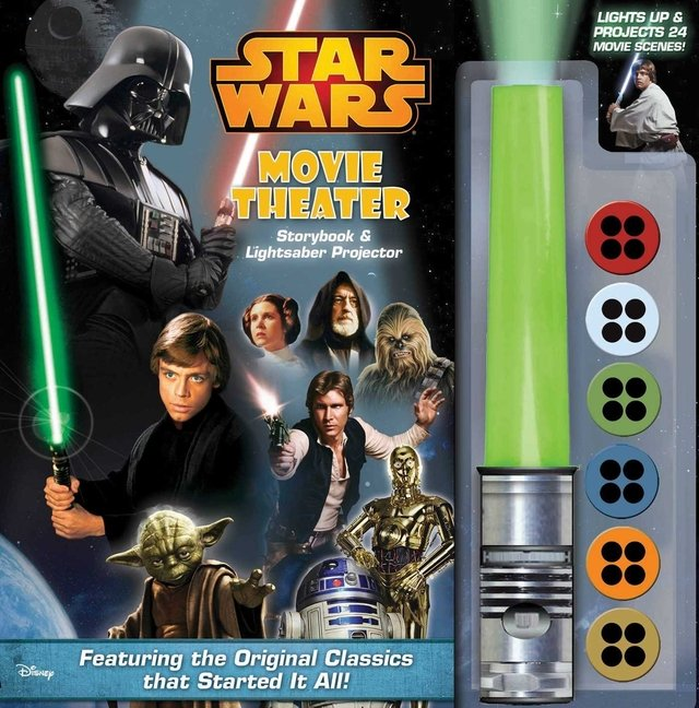 Star Wars Movie Theater Storybook & Lightsaber Projector [With Lightsaber Projector]
