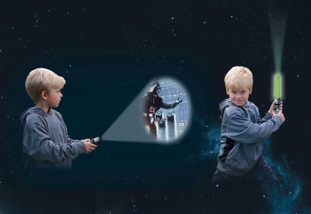 Star Wars Movie Theater Storybook & Lightsaber Projector [With Lightsaber Projector] - comprar online