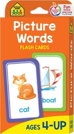 School Zone - Picture Words Flash Cards