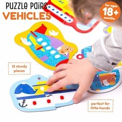 Puzzle Pairs Vehicles Age 18m+ Puzzle en internet
