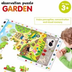 Observation Puzzle Garden Age 3+ Puzzle - Children's Books