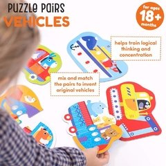 Puzzle Pairs Vehicles Age 18m+ Puzzle - Children's Books