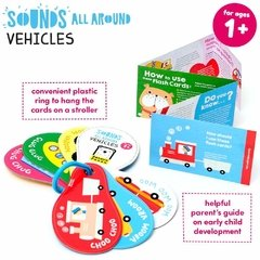 Sounds All Around Vehicles Age 1+ Flash Cards - Children's Books