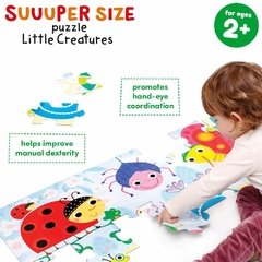 Suuuper Size Little Creatures Age 2+ Floor Puzzle - Children's Books