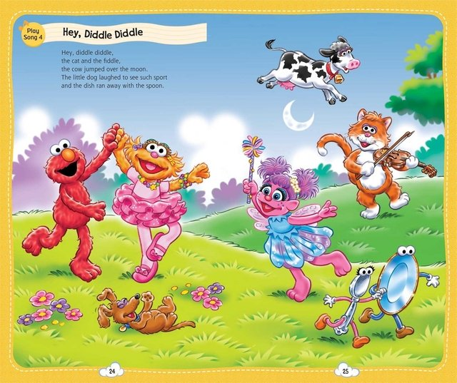 Sesame Street Music Player Storybook: 24 Tunes [With Music Player and 4 CDs] (Collector's)