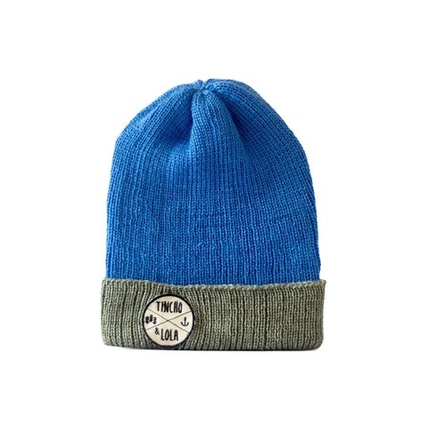 Light Blue and Grey Woolen Beanie - buy online