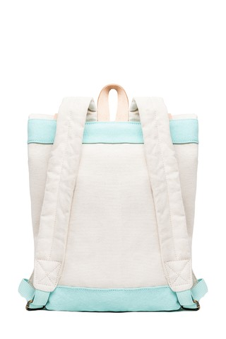 RW Mini Backpack Natural / Turquoise - Tincho & Lola