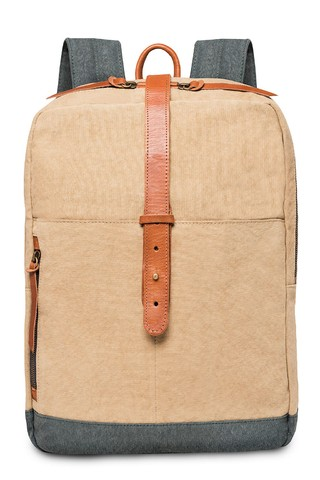 Frey Backpack Beige / Indigo Blue