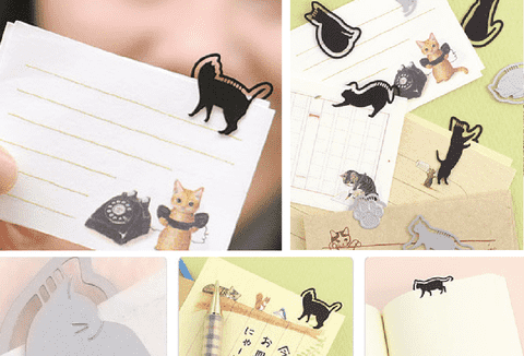 Bookmark Petit Clip Gatos Plata