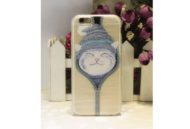 Estuche de celular Iphone 6 plus Gatos en internet